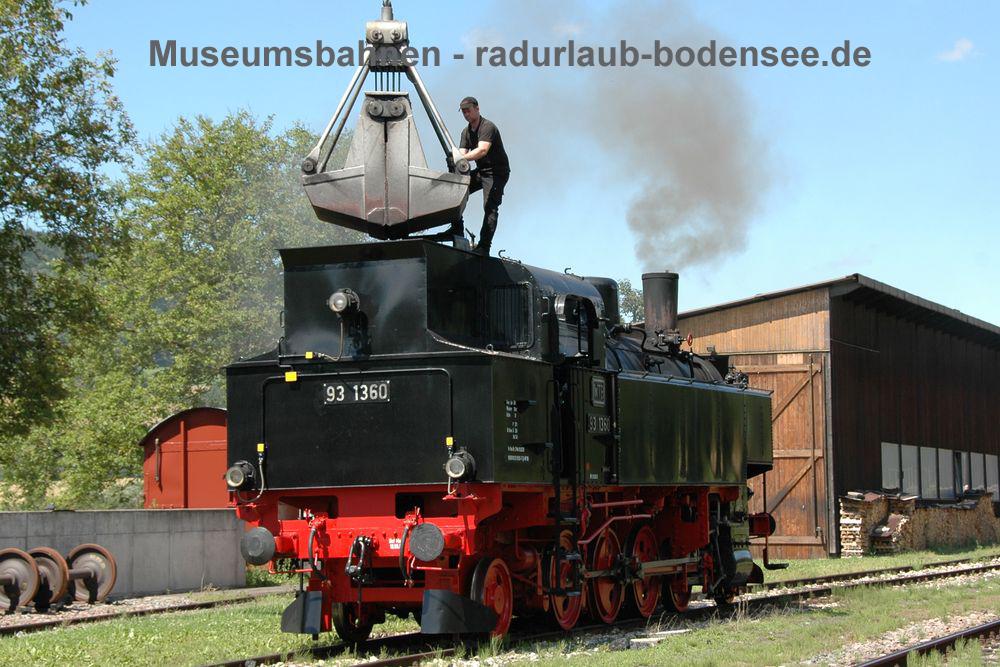 Museumsbahnen am Bodensee - Sauschwänzlebahn - Lok 93 1360 - Bj 1927 - ex 378.60 BBÖ