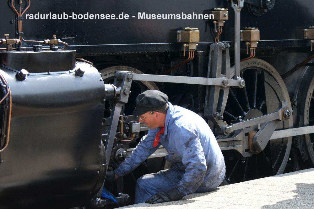 Radurlaub Bodensee - Museumsbahnen am Bodensee - Lok 3 MThB Ec 3/5 Choli